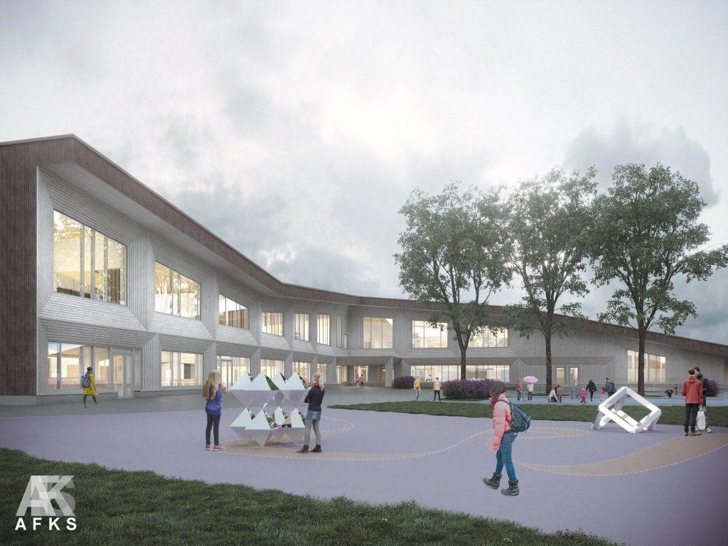 Suomalais-venäläiselle koululle rakennetaan uudisrakennus, joka tulee olemaan moderni puukoulu